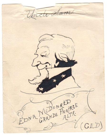 A drawing by Clara Dahl 1918.