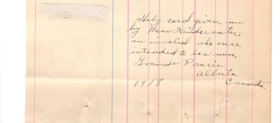 Eddie's memories 1918