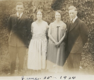 Guy, Miriam, Vivian and Hilary 1924