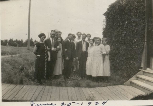 The Wedding party and guests 1924