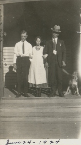 Hilary, Vivian and R.S. pose June 24, 1924