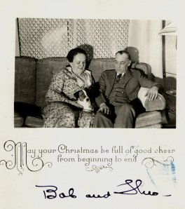 Christmas card from Theo and Bob