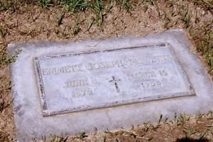 Emmett's tombstone in Calvary Cemetery, Yakima