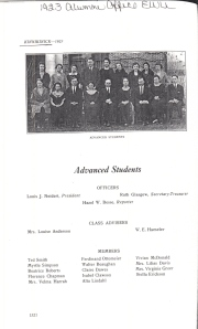 Advanced Students - Vivian McDonald 1923