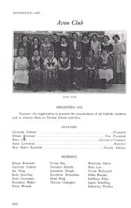 Avon Club 1923
