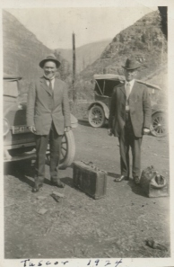 R.S. with a unknown man 1924 Tuscor, MT