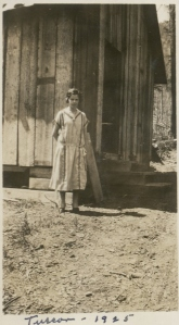 Vivian by a shack Tuscor 1925