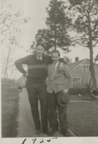 Gordon with a friend in 1925