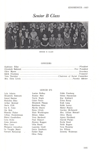 Gordon is listed with the Senior B's in 1923 Normal School Yearbook