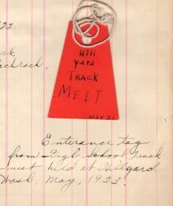 Track meet Ticket 1923 Eddie's collection