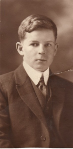 Gordon's graduation photo probably Cheney High School about 1921