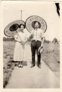 Vivian and Gordon 1925 with parasol's.