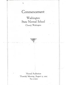 Commencement 1925 Cheney Normal School
