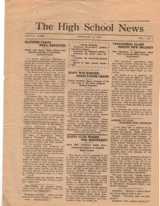 Feb 13, 1923 Cheney High School Newspaper