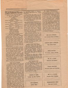 Cheney High School News, Feb. 13, 1923.