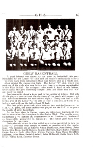 Girl's Basket Ball Cheney High 1925.