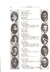 Eddie and Jean in the Yearbook for Cheney High 1925