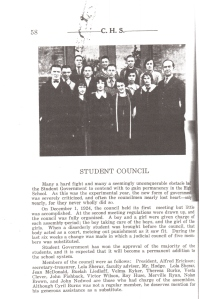 Cheney High School Student Council 1924