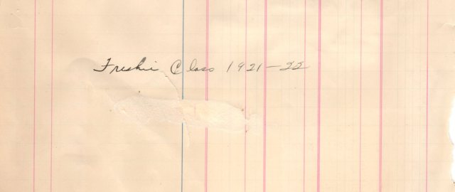 1921 to 1922 Cheney High Freshman Class list