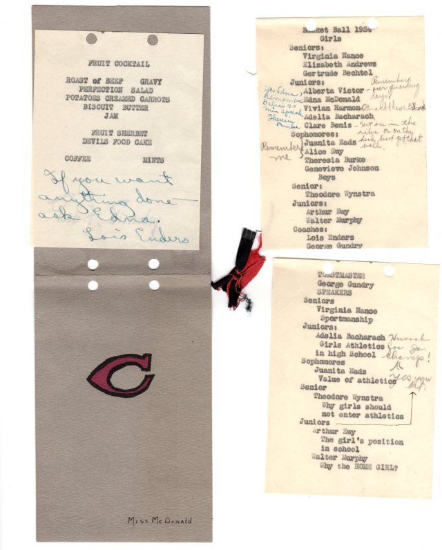 "Letter ""C"" Club Program 1924"