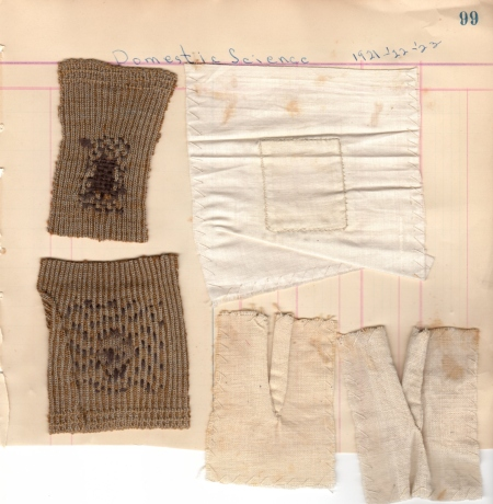 Eddie's examples from her Domestic Science Class 1921-23