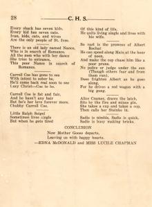 Senior Prophecy CHS 1925