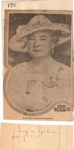 Madame Schuman-Heink Came to sing in 1923.