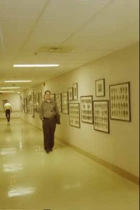 Here is my hubby walking that hallway at Sacred Heart 2002