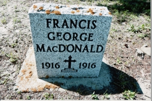 Francis George MacDonald 1916 to 1916