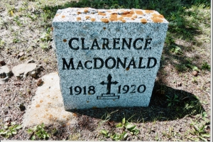 Clarence MacDonald 1918 to 1920