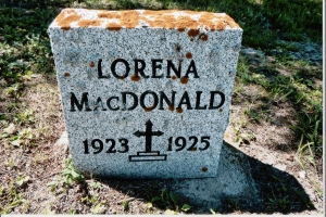 Lorena MacDonald 1923 to 1925