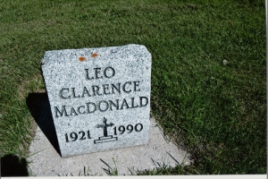 Leo Clarence MacDonald 1921 to 1990.