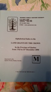 Booklet: Land Grants by Alphabetical