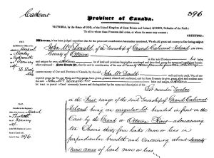 John McDonell Letters Patent 1847