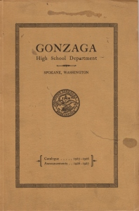 Gonzaga High School Catalogue 1925 to 1926