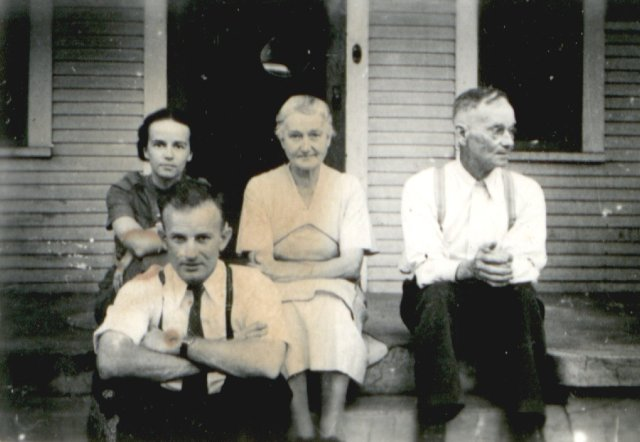Miriam, Keith, Nellie and Ronald about 1930