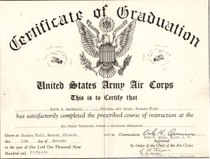 Air Corps Certificate 1936