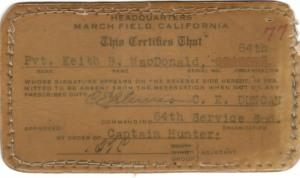 Service Card