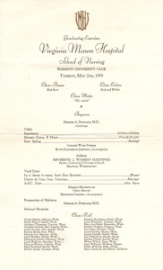 Graduation Ceremonies for the nursing school 1939