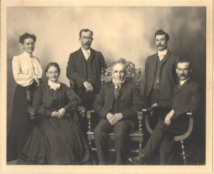 Archibald and Mary McDonell and their children
