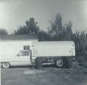 Caddie with trailer attached