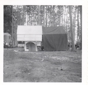The C Wagon was the trailer on the left with a canvas awning