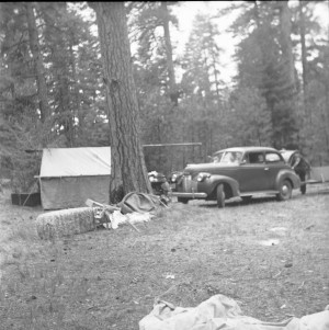 Camping with the Chevy.