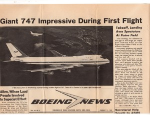 747's first flight