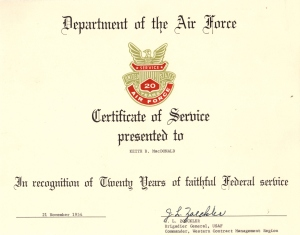 30 years of Federal Service