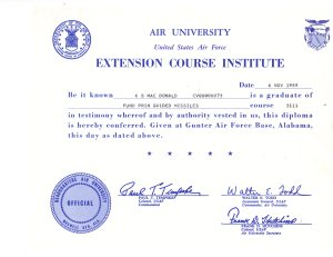 Certificate on Fund of Guided Missiles