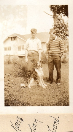 Dad with his dog Tony and brother Gordon