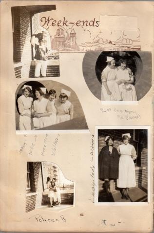 Nurses taking a break - Eddie bottom right photo on left in cape