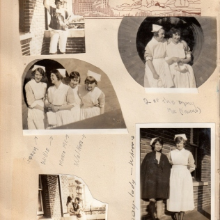 Nurses taking a break - Eddie bottom right photo on left in cape