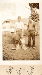 Keith with his dog Tony and brother Gordon